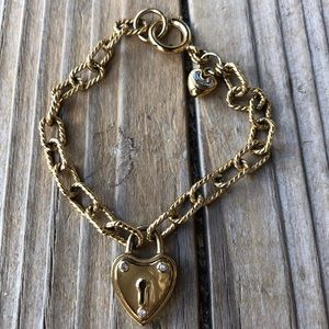 Nice Juicy Couture Puff Heart Lock Bracelet!